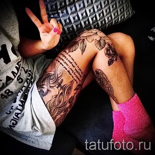 Rose Tattoo am Oberschenkel - Picture-Option aus dem Nummer 15122015 1