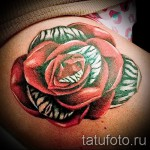 Rose Tattoo am Oberschenkel - Picture-Option aus dem Nummer 15122015 2