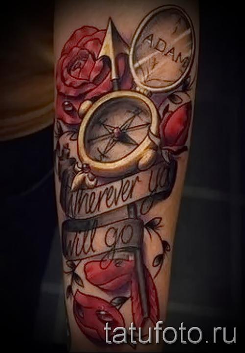 Rose Tattoo auf dem Arm für Männer - Photo-Option aus dem Nummer 15122015 1