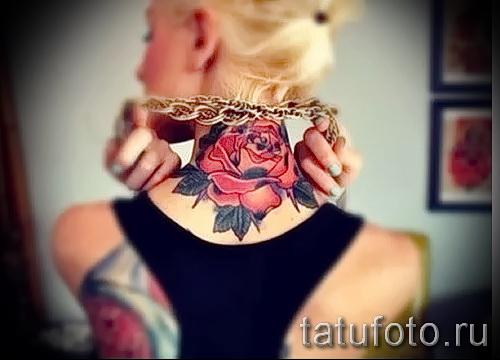 Rose Tattoo auf dem Rücken - Picture-Option aus dem Nummer 15122015 3