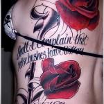 Rose Tattoo auf dem Rücken - Picture-Option aus dem Nummer 15122015 6