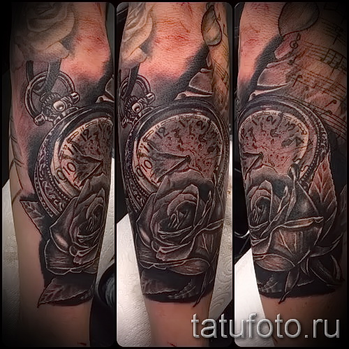 Rose Tattoo et montre - une photo de l'option numéro 15122015 1
