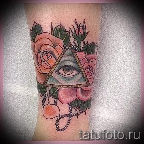 Rose Tattoo im Dreieck - eine Variante der Bildnummer 15122015 1