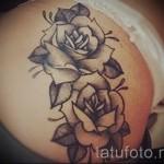 Rose Tattoo sur les cuisses - option d'image à partir du numéro 15122015 1