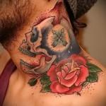 Rose tatouage sur son cou - une variante du numéro de la image 15122015 1