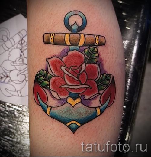 Rose vieux tatouage de l'école - l'option d'image à partir du numéro 15122015 1