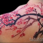 Sakura tattoo on the blade - Photo example of the number 12122015 1