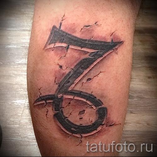 Steinbock Tattoo am Bein - Beispielfoto 18122015№ 1