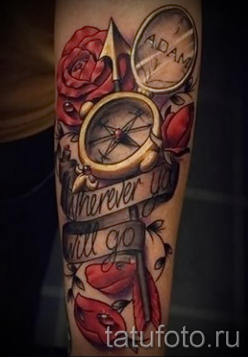 Tattoo Ärmel rose - Foto-Option aus dem Nummer 15122015 1