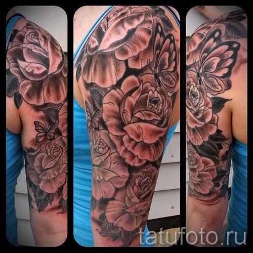 Tattoo Ärmel rose - Foto-Option aus dem Nummer 15122015 2