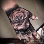Tattoo-Blumen auf der Hand - Picture-Option aus dem Nummer 21122015 1