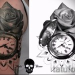 Tattoo Rose and watch - a photo of the option number 15122015 1