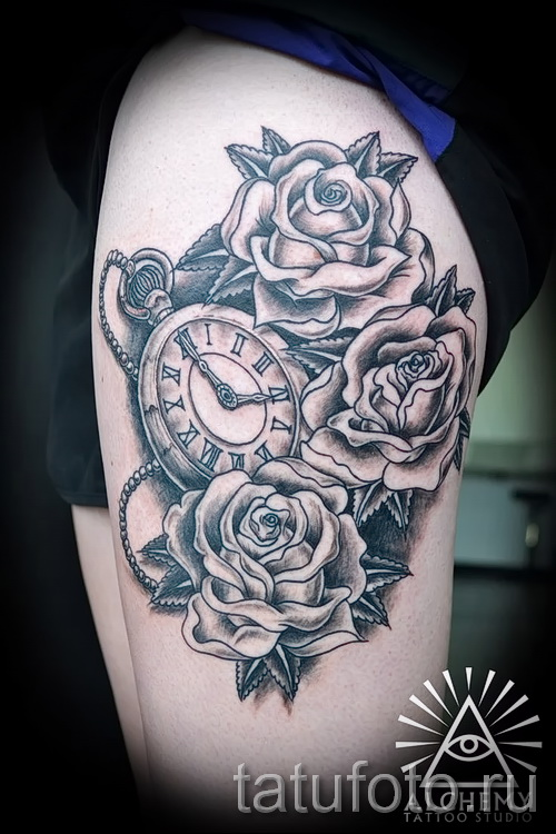 Tattoo Rose and watch - ein Foto des Optionsnummer 15122015 1
