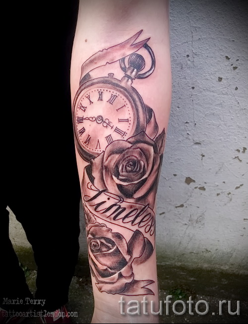 Tattoo Rose and watch - ein Foto des Optionsnummer 15122015 3
