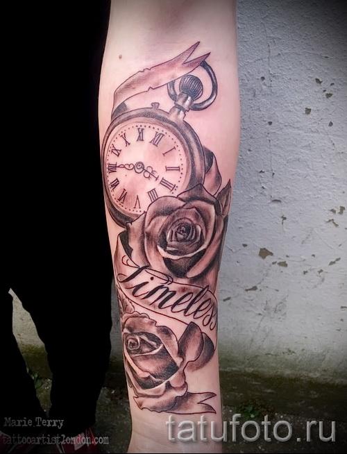 Tattoo Rose and watch - ein Foto des Optionsnummer 15122015 3