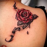 Tattoo Rose mit Dornen - Picture-Option aus dem Nummer 15122015 1