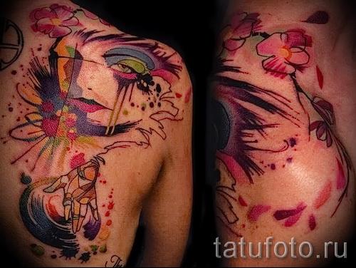 Tattoo auf dem unteren Rücken Abstraktion - Foto Beispiel für die Nummer 21122015 1