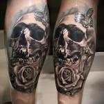 Tattoo auf der Wade rose - Foto Beispiel für die Nummer 20122015 1