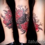 Tattoo auf der Wade rose - Foto Beispiel für die Nummer 20122015 2