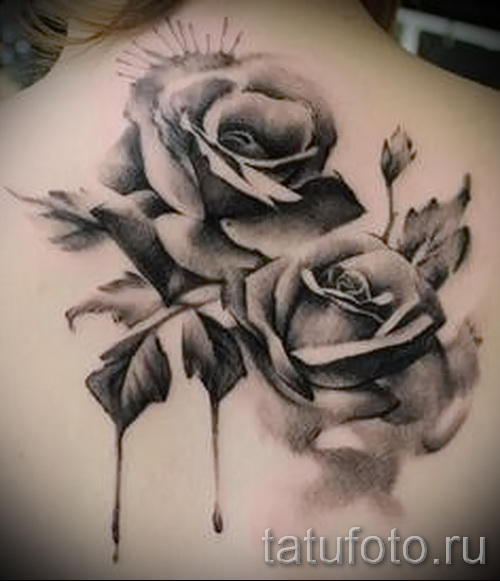 Tattoo black and white roses - Photo option from the number 15122015 1