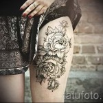 Tattoo black and white roses - Photo option from the number 15122015 3