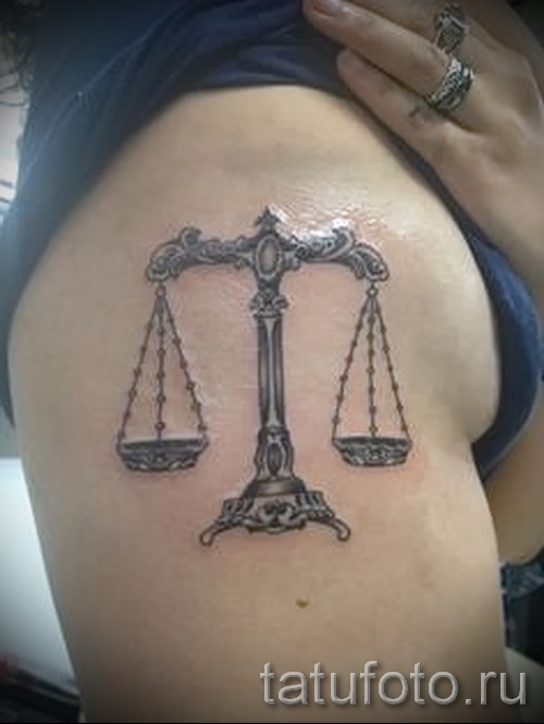 Tattoo horoscope scales - Photo example of the number 13122015 1