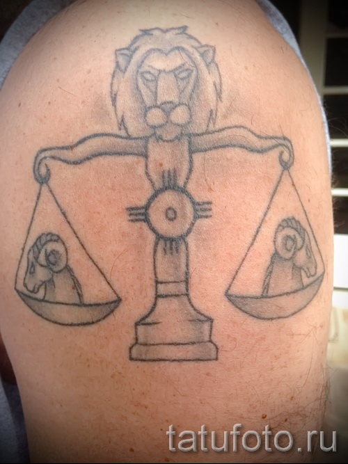 Tattoo horoscope scales - Photo example of the number 13122015 3