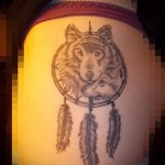Tattoos Dreamcatcher and the Wolf - Photo example of the number 11122014 1