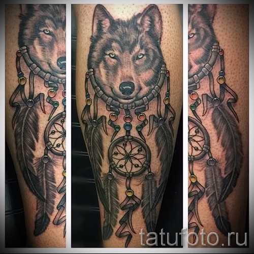 Tattoos Dreamcatcher and the Wolf - Photo example of the number 11122014 2
