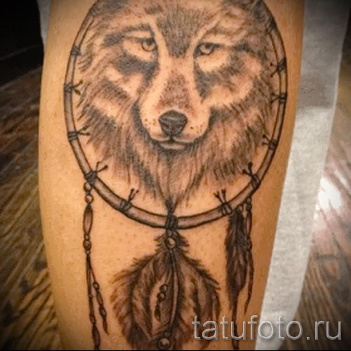 Tattoos Dreamcatcher and the Wolf - Photo example of the number 11122014 3