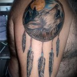Tattoos Dreamcatcher and the Wolf - Photo example of the number 11122014 4