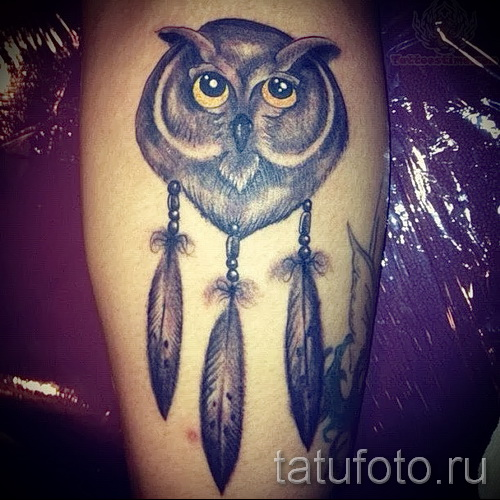 Tattoos Dreamcatcher with owl - Photo example of the number 11122014 1