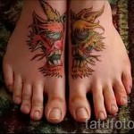 Women's tattoo on his leg at the ankle - an example of the photo 2