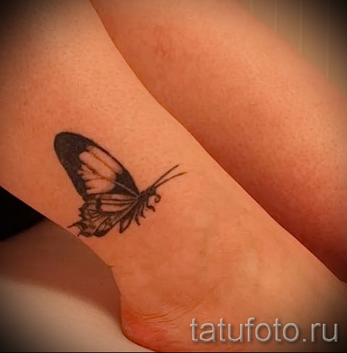 Women's tattoo on his leg at the ankle - an example of the photo 4
