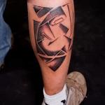 Zusammenfassung Tattoo am Bein - Foto Beispiel für die Zahl 21122015 1