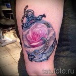 anchor tattoo with flowers - Picture option from the number 21122015 2