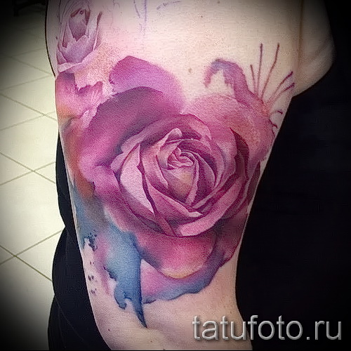 aquarelle Rose Tattoo - option d'image à partir du numéro 15122015 1