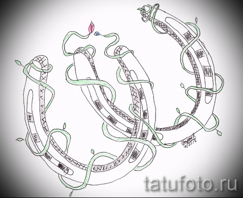 horseshoe tattoo designs - example pictures 4