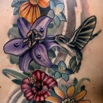 hummingbird with a flower tattoo - Picture option from the number 21122015 1