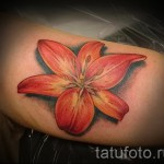 lily flower tattoo 1