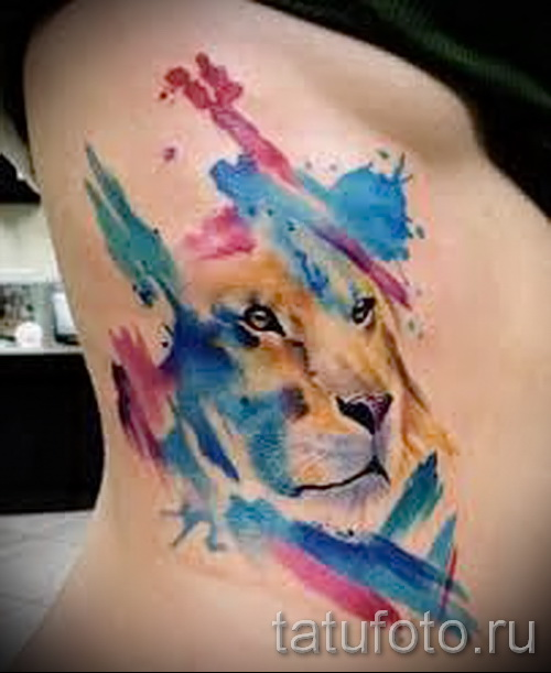 lion tattoo abstraction - Photo example of the number 21122015 1