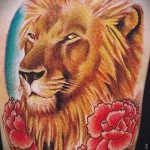 lion tattoo with flowers - photos cool tattoo of number 21122015 1