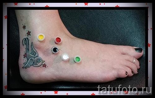 little swallow tattoo - Photo example 1