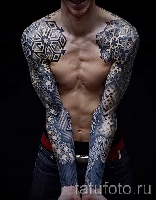 manches de tatouage abstraites - photo par exemple du nombre 21122015 1
