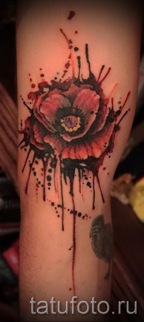 poppy flower tattoo 2