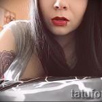 rose tatouage sur son bras chez les filles - l'option d'image à partir du numéro 15122015 1