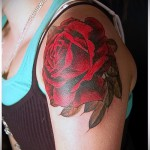 rote Rose Tattoo - Picture-Option aus dem Nummer 15122015 1