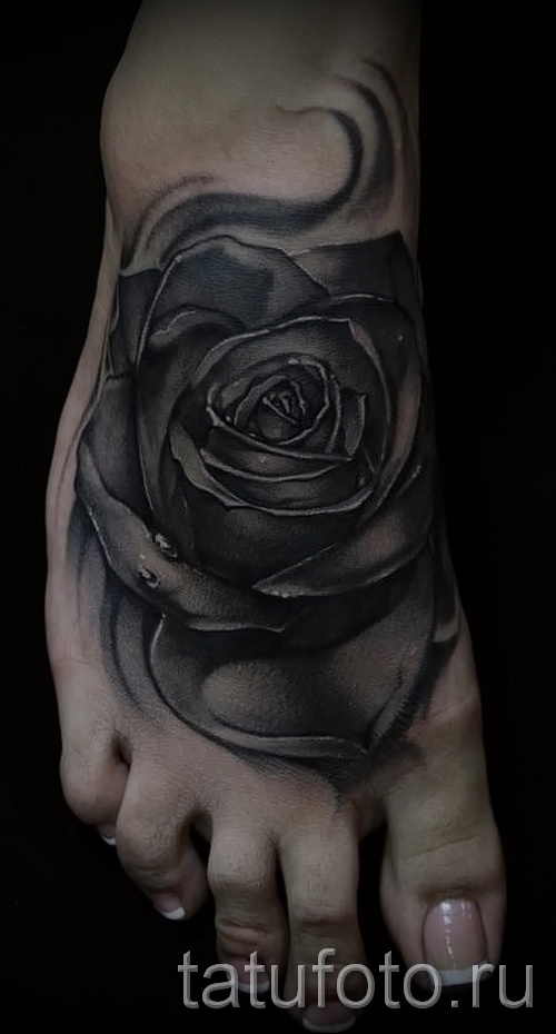 schwarze Rose Tattoo - Picture-Option aus dem Nummer 15122015 1