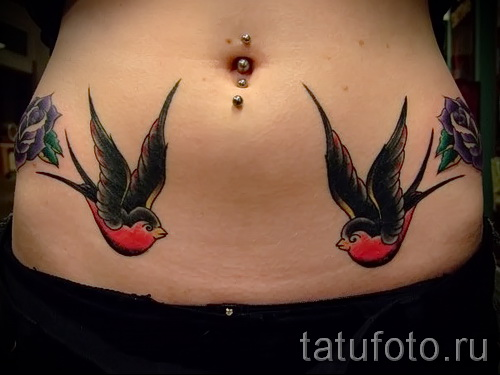 swallow tattoo old school - Photo example 3