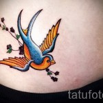swallow tattoo on his stomach - an example of the photo 7